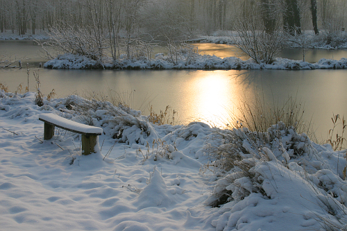 Snow photograph in Picardie