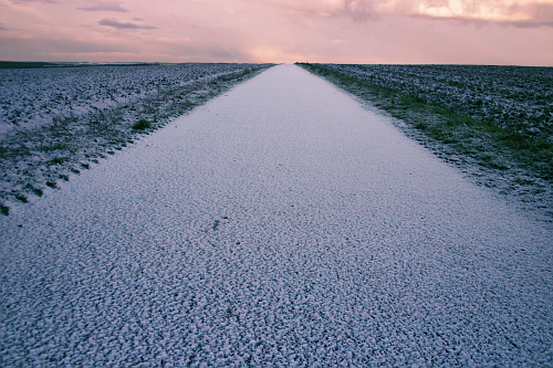 Photgraph of snow landscape in Picardie